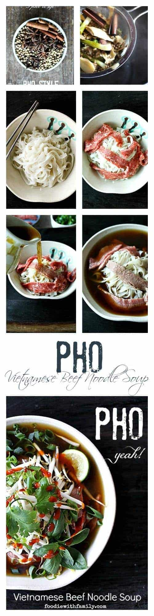 homemade Pho or Vietnamese Beef Noodle Soup