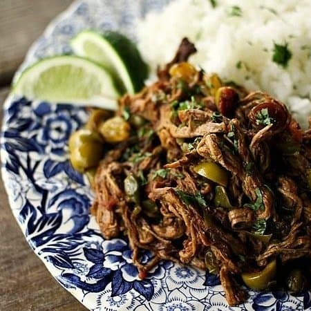 Instant Pot or Slow-Cooker Ropa Vieja {Cuban Saucy Shredded Beef}