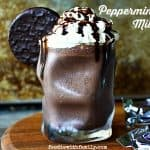 Cool, chocolatey, Peppermint Patty Milkshake from foodiewithfamily.com