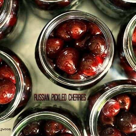 Russian Pickled Cherries from foodiewithfamily.com
