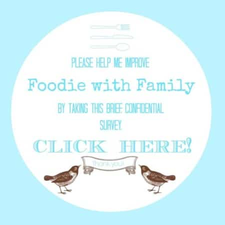Foodie with Family Reader Survey