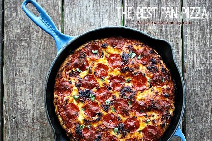 Pan Crust Round Table.The Best Pan Pizza