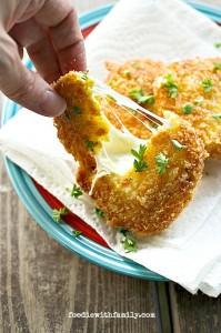 Crispy, Gooey, Fresh Mozzarella Steaks from foodiewithfamily.com #FreezerFriendly #MakeAheadMondays