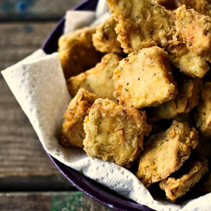 Chicken Fried Eggplant from foodiewithfamily #Vegetarian