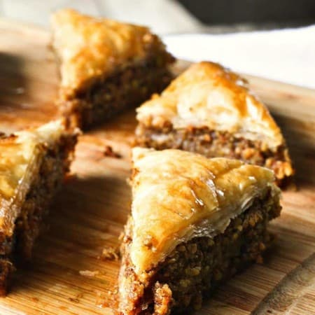 Cardamom Pistachio Baklava from foodiewithfamily.com