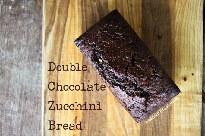 Double Chocolate Chunk Zucchini Bread from foodiewithfamily.com