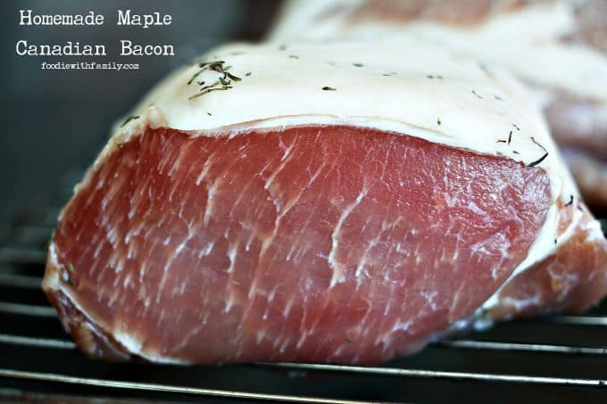 Cured pork loin waiting for cooking to make Homemade Maple Canadian ...