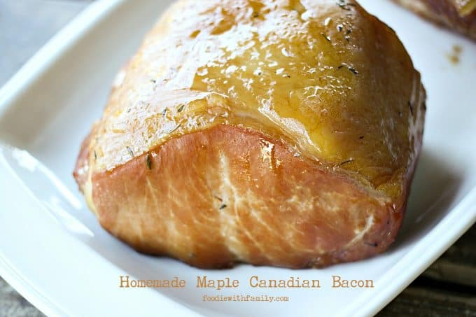 Homemade Maple Canadian Bacon {smoker optional!} from foodiewithfamily.com