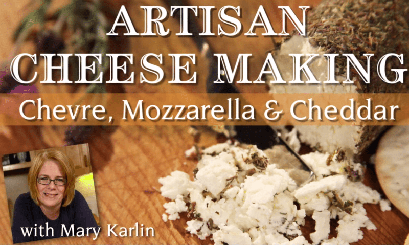 Artisan Cheesemaking: Chevre, Mozzarella & Cheddar {class giveaway}