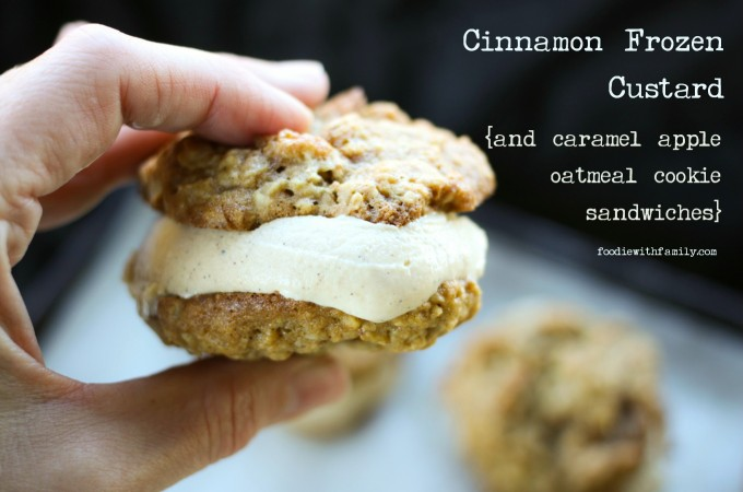 Cinnamon Frozen Custard {and cookie ice cream sandwiches}