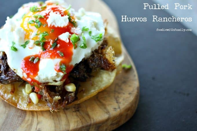 Huevos Rancheros with Pulled Pork from foodiewithfamily.com
