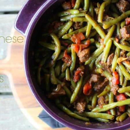 Lebanese Beef and Beans
