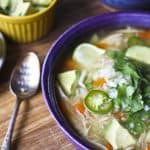 Mexican Chicken Soup {Caldo de Pollo} from foodiewithfamily.com