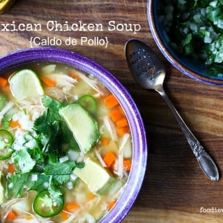 Mexican Chicken Soup {Caldo de Pollo} from foodiewithfamily.com