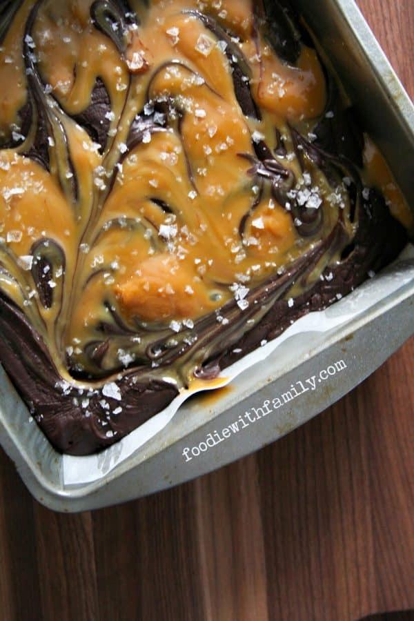 kiss of bourbon makes this Easy Salted Caramel Fudge extra special ...