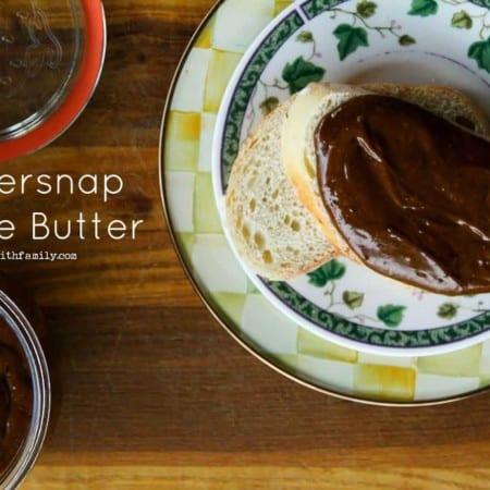 Gingersnap Cookie Butter from foodiewithfamily.com