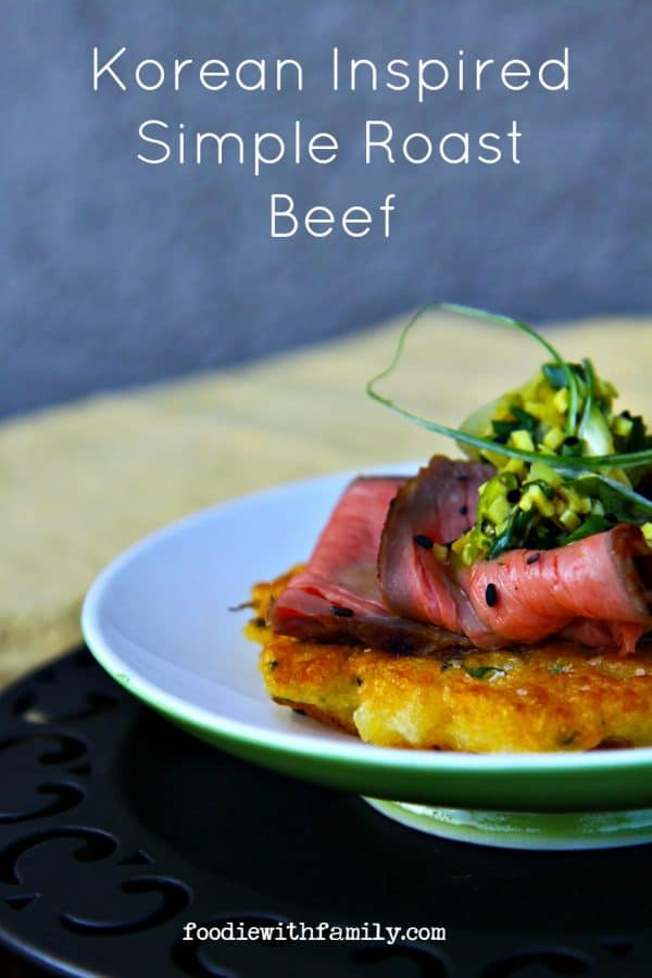 Easy to make, impressive Korean Inspired Simple Roast Beef