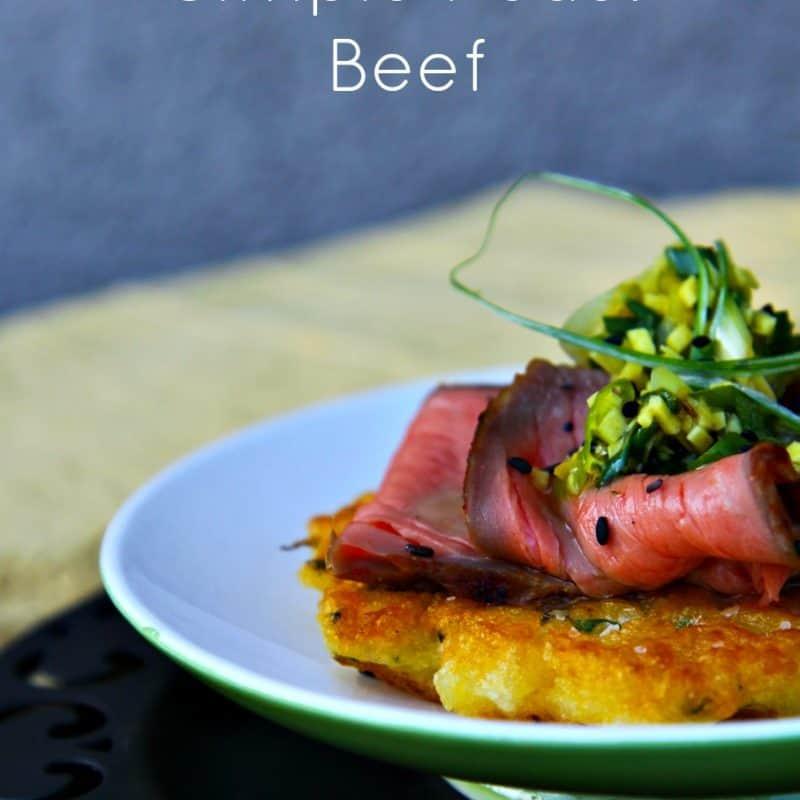 Easy to make, impressive Korean Inspired Simple Roast Beef