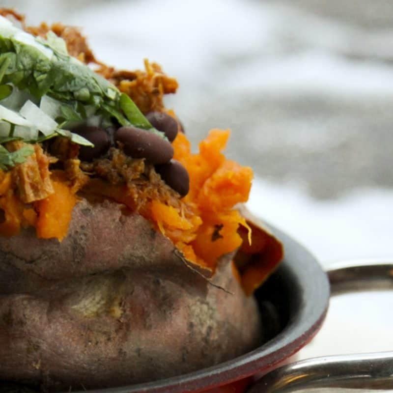 Loaded Baked Sweet Potatoes
