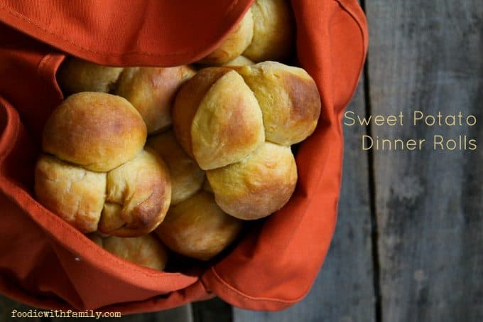 Easy, Perfect Sweet Potato Dinner Rolls from foodiewithfamily.com # ...