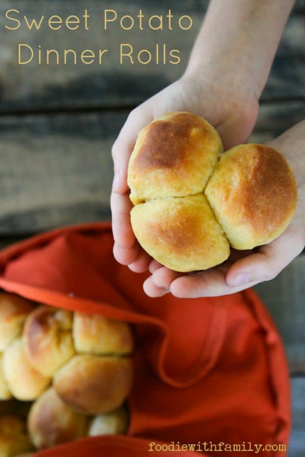 Perfect Sweet Potato Dinner Rolls from foodiewithfamily.com #JCPAmbassador #BH #ad