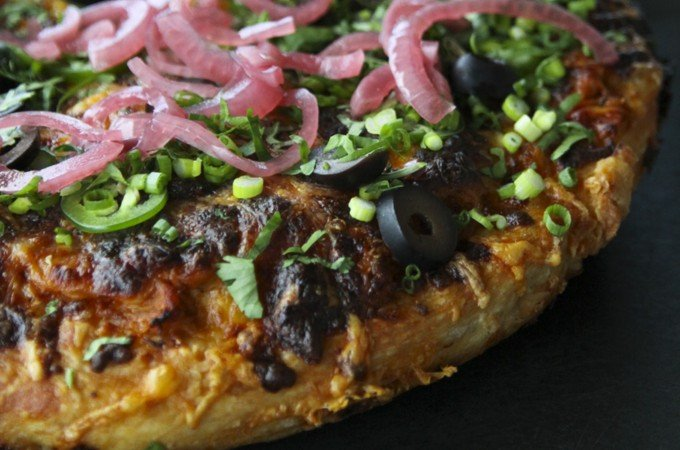 Trashed Up Barbecue Turkey Pizza