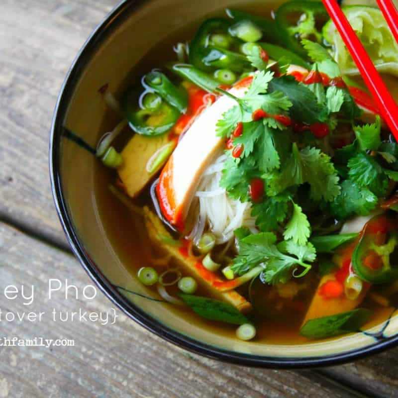 Use your leftover Thanksgiving turkey to make Turkey Pho! foodiewithfamily.com