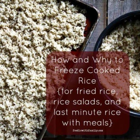 How to Freeze Rice {for fried rice and other dishes}