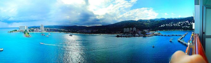 Ocho Rios, Jamaica on the #CarnivalBreeze #Client