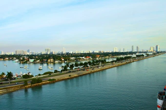 Leaving the Port of Miami on the #CarnivalBreeze