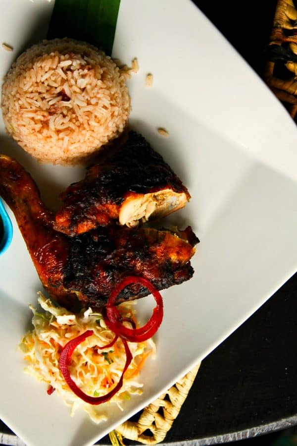 Jerk Chicken from Miss T's in Ocho Rios, Jamaica sailing on the #CarnivalBreeze #Client