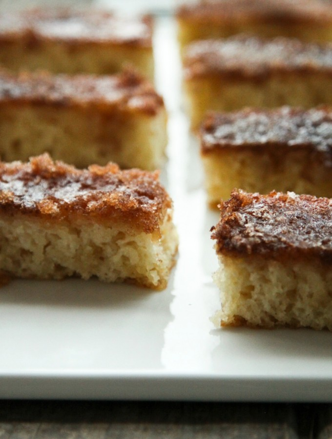 Buttery, tender, indulgent Cinnamon Toast Cake from foodiewithfamily.com