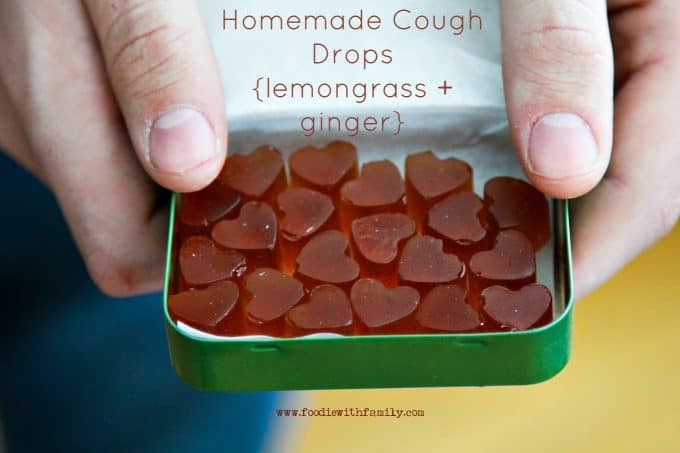 Homemade Cough Drops {lozenges}with lemongrass + ginger from foodiewithfamily.com