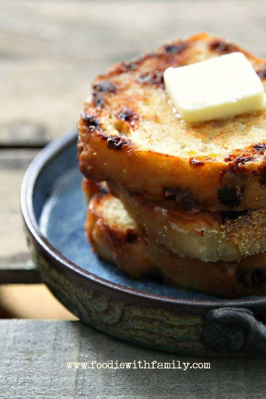 No Knead Cinnamon English Muffin Bread