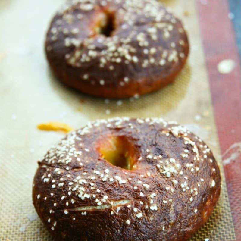 Homemade Pretzel Bagels from foodiewithfamily.com
