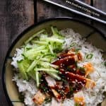 Simple Slow Cooker Korean Style Barbecue Pork on Foodiewithfamily.com