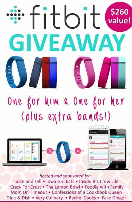 Fitbit two-pack giveaway on foodiewithfamily.com
