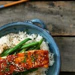 Blood Orange Miso Glazed Salmon from foodiewithfamily.com