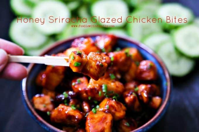 Simple Honey Sriracha Glaze Chicken Bites