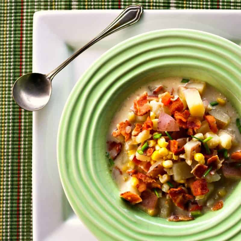 Roasted Corn and Potato Chowder from foodiewithfamily.com