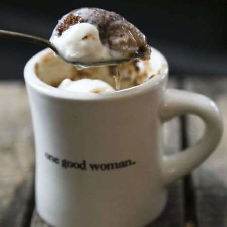 ice cream snickerdoodle mug cake