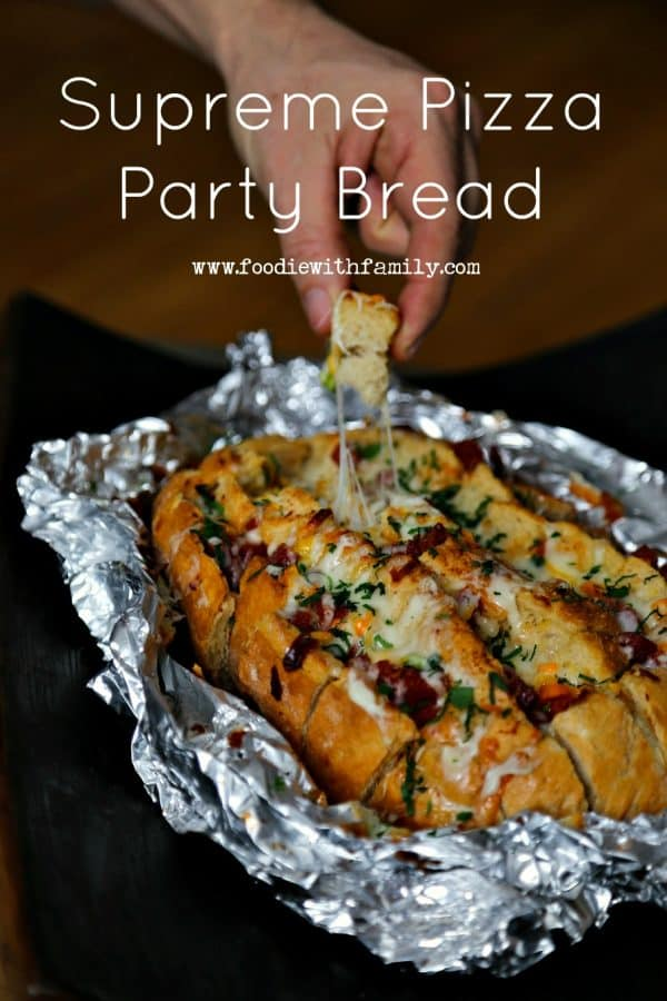 Snack time! Supreme Pizza Party Bread from foodiewithfamily.com