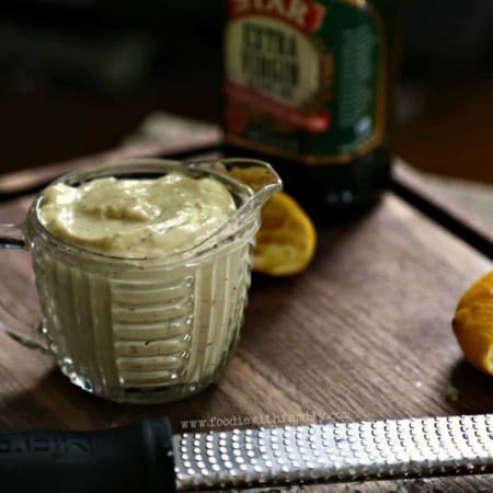 Homemade Thick Caesar Dressing like mayonnaise. Great dressing or dip.
