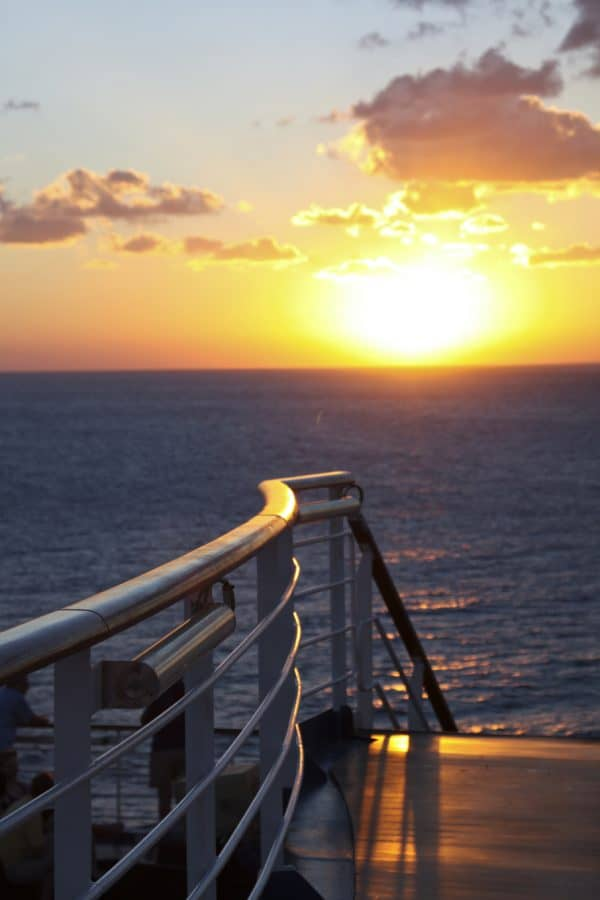 Beautiful sunset on the Carnival Breeze