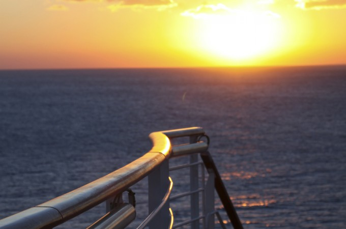 Beautiful sunset on the Carnival Breeze