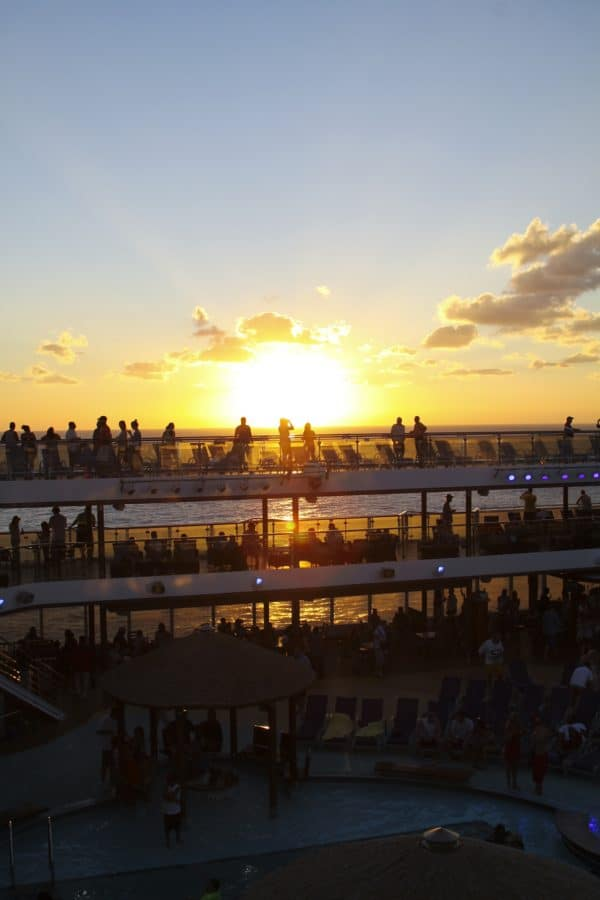 Sunset on the Carnival Breeze