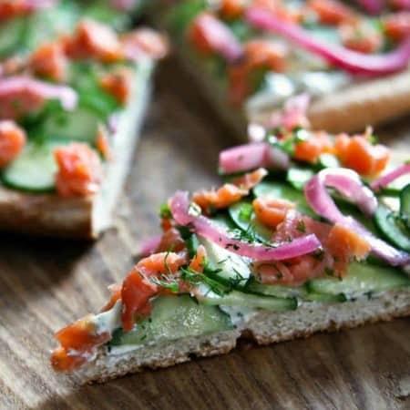 Smoked Salmon Cucumber Pizza