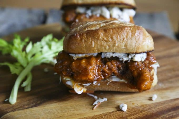 Buffalo Chicken Sandwich Bleu Cheese Coleslaw Toasted Bun