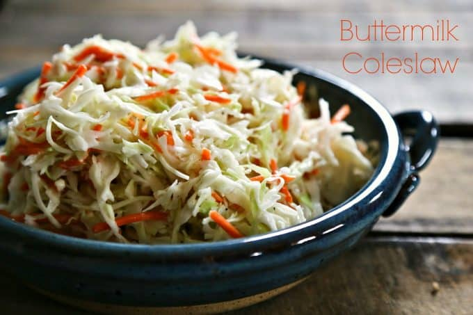 Southern style Classic Buttermilk Coleslaw