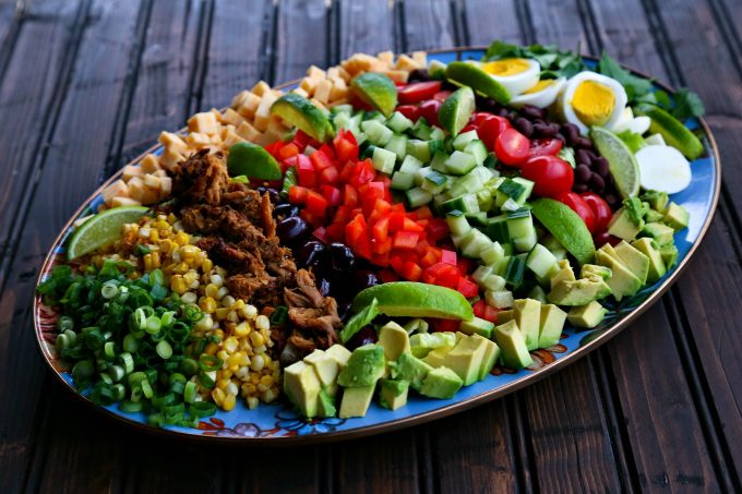 Tex-Mex Cobb Salad from foodiewithfamily.com